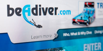 Scuba Industry Marketing Site